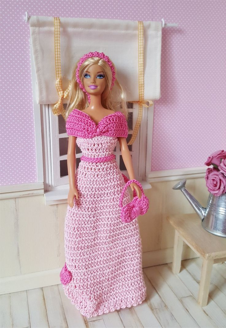 122- FICHE PATRON CROCHET Robe de bal pour poupée Barbie : Jeux, jouets par atelier-crochet