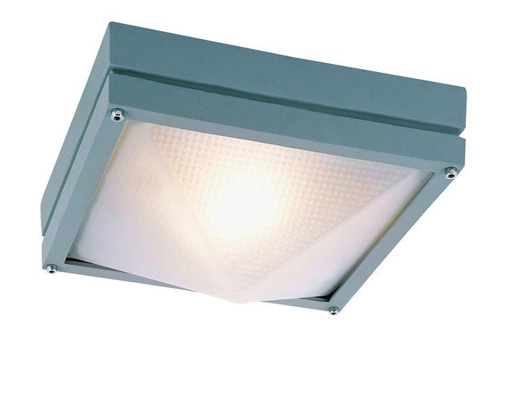 Trans Globe Lighting 43302 GRY Craftsman Outdoor 1 Light Flush-mount