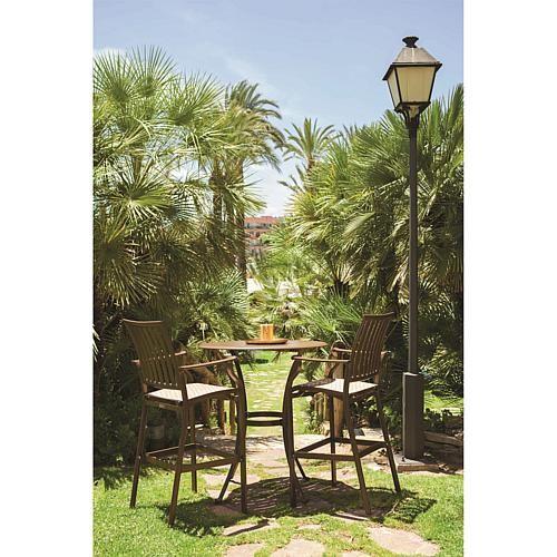 Panama Jack Outdoor Island Breeze 3-piece Slatted Pub Table Set