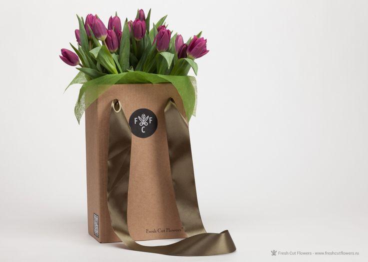 Тюльпаны фиолетовые
