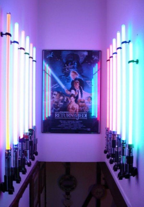 Star Wars man cave [ Wainscotingamerica.com ] #basement #wainscoting #design