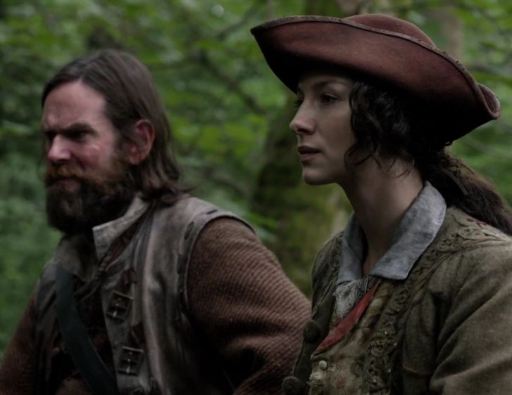 Claire (Caitriona Balfe) and Murtagh (Duncan LaCroix) in The Search of Outlander on Starz via http://outlander-online.com/2015/05/10/1370-uhq-1080p-screencaps-of-episode-1x14-of-outlander-the-search/