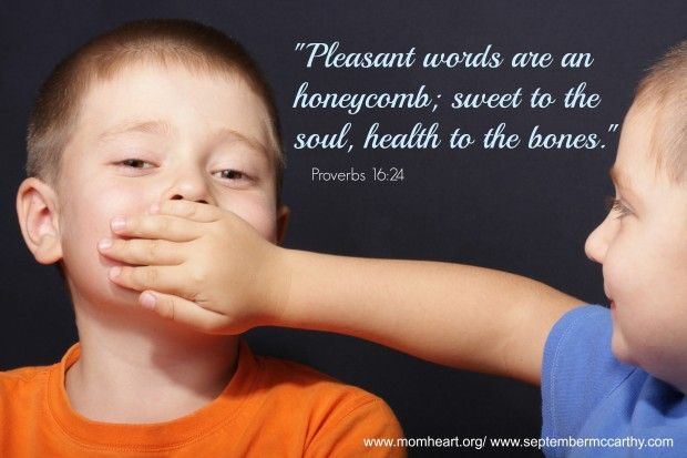 This week I wrote a post on taming the tongue for the Mom ...
