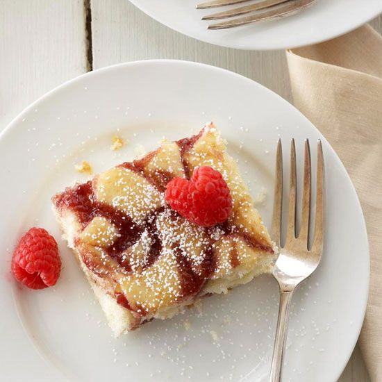 With a sweet, fruity swirl of jam, there's no need for frosting or a streusel topping.