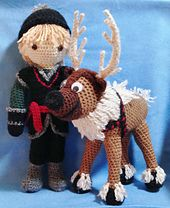 """Free crochet pattern on Ravelry for Reindeer, based on """"Frozen's"""" Sven pattern by Becky Ann Smith"""