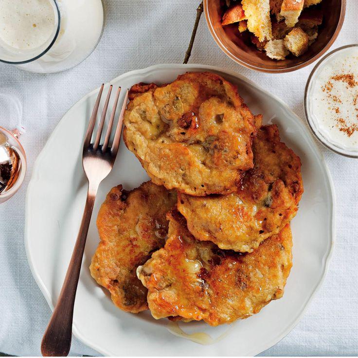 Sweet potato and pecan hotcakes