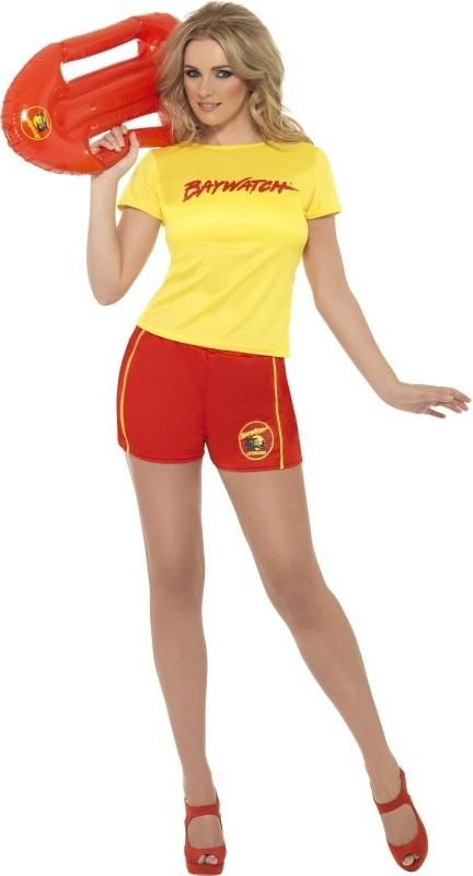 Licensed Baywatch Fancy Dress Outfit Lifeguard Costume Hen Stag 90s Party | eBay