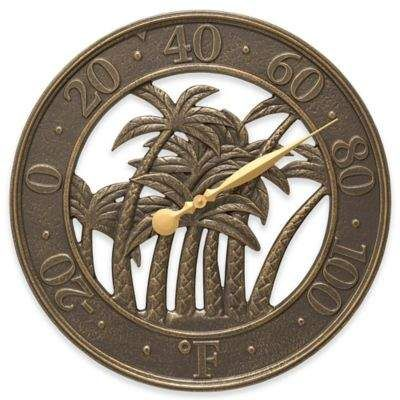 Beautiful Bronze Palm Tree Thermometer Whitehall Products Palm Outdoor Thermometer in French Bronze #ad