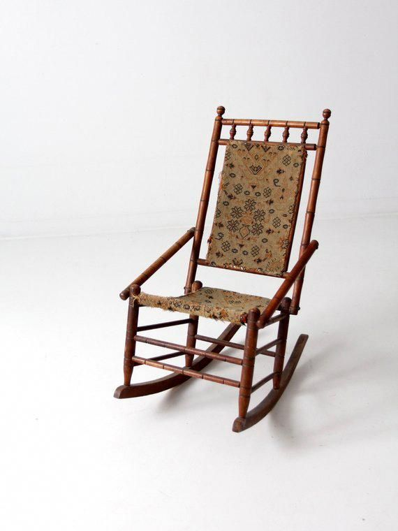 Rocking Bag Chair Revolving Adjustment Victorian Tapestry Victorianchair White