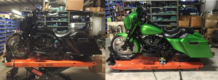 2013 Harley Street Glide paint job before and after