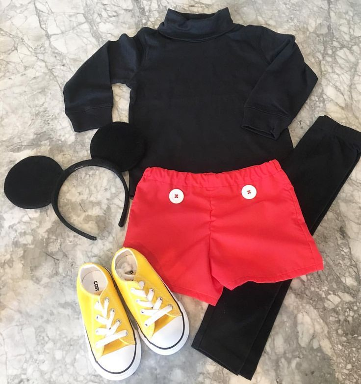 Mickey Mouse Halloween Costume • Toddler Boy • homemade kids costume • shorts by @harrisandfin