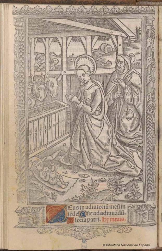 Hore intemerate dei genitricis virginis marie secundum vsum romanae curie Autor Iglesia Católica- Kerver, Thielman- Fecha 1514