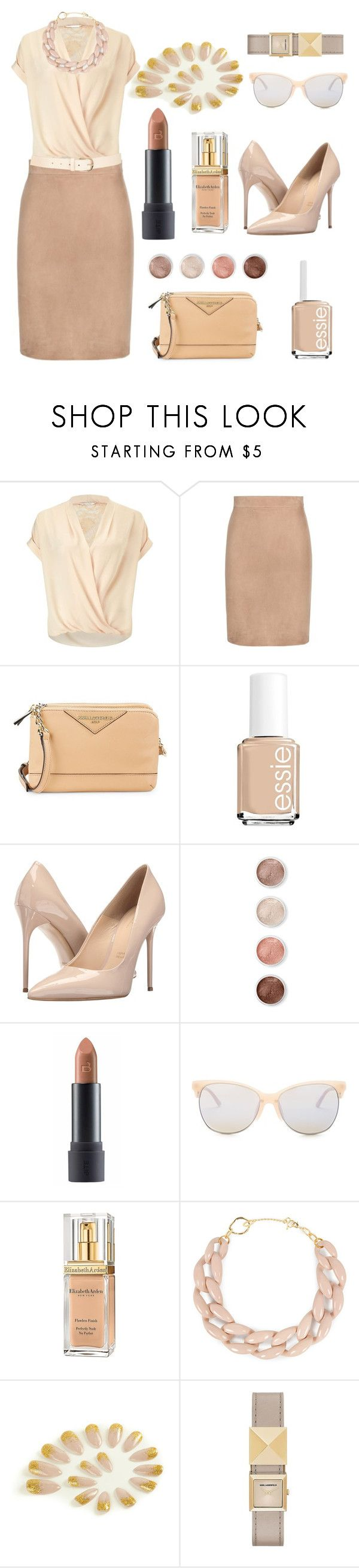 """I prefer to go NUDE."" by anexushill ❤ liked on Polyvore featuring Miss Selfridge, Tom Ford, Karl Lagerfeld, Essie, Massimo Matteo, Terre Mère, Bite, Smith Optics, Elizabeth Arden and DIANA BROUSSARD"