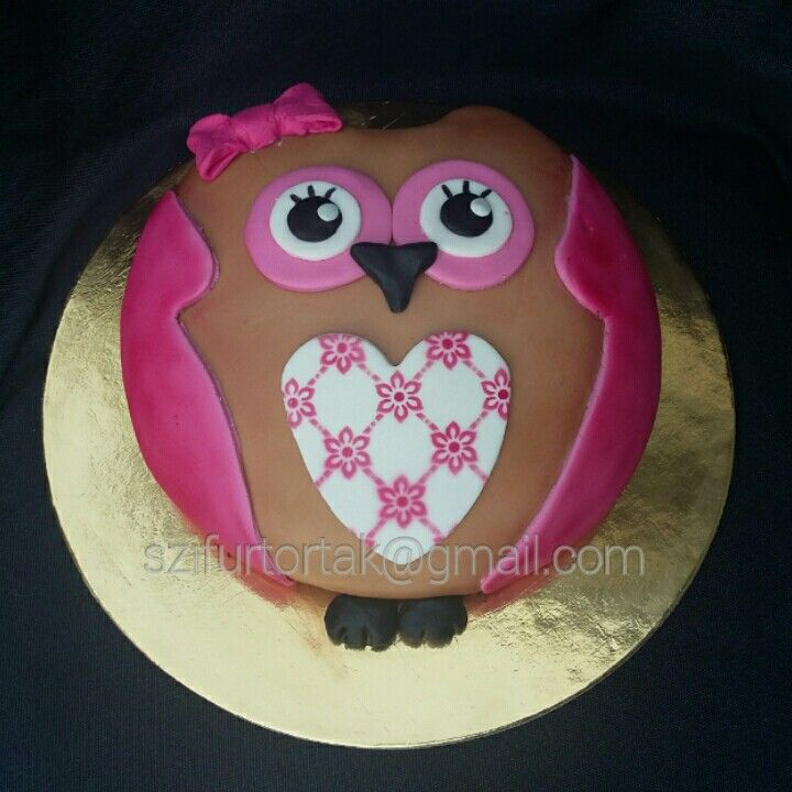 Owl cake #szifurtortak
