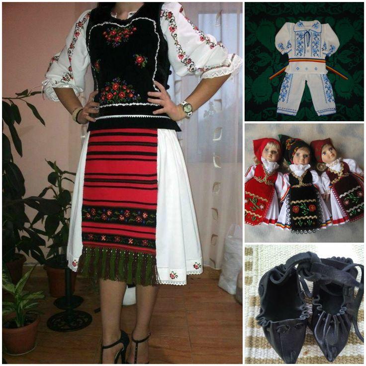 Costum popular femeiesc, costum popular baiat, papusi imbracate in port popular si opinci... si multe asemenea produse autentic romanesti gasiti pe www.manufacturat.ro