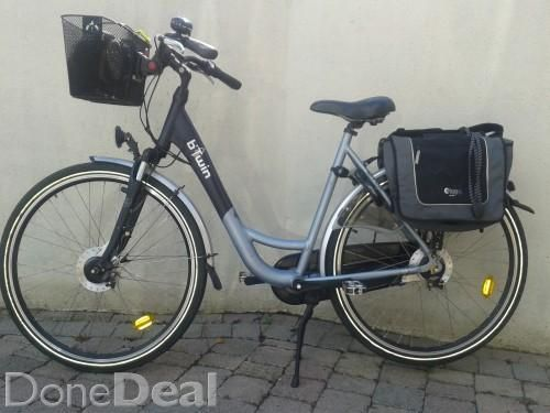 Captivating B Twin City Bike With Accessories
