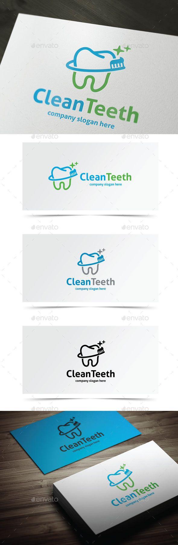 Clean Teeth - Logo Design Template Vector #logotype Download it here: http://graphicriver.net/item/clean-teeth/9777248?s_rank=690?ref=nexion