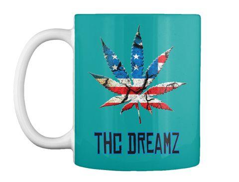 Thc Dreamz Aqua Mug Front