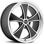 2015 American Racing Vintage VN807 Satin Black Machined Wheels & Rims