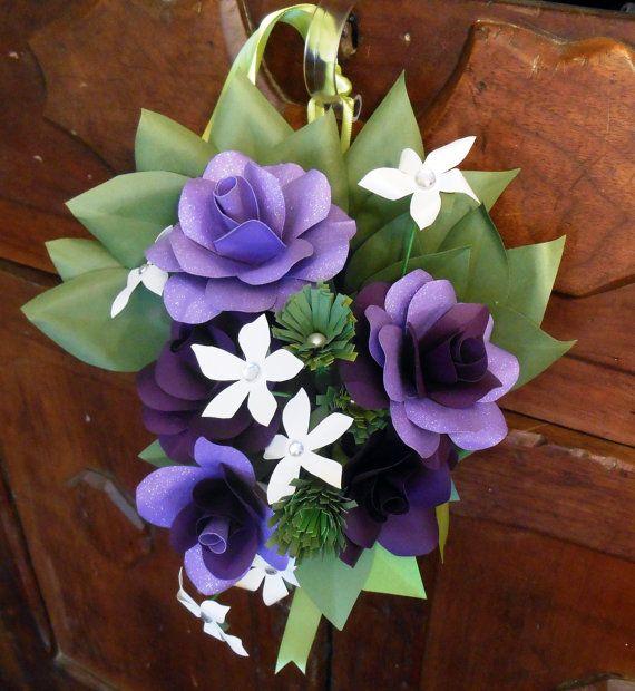 Cono de Pew decoración floral marcador fila por MyPaperRoseGarden