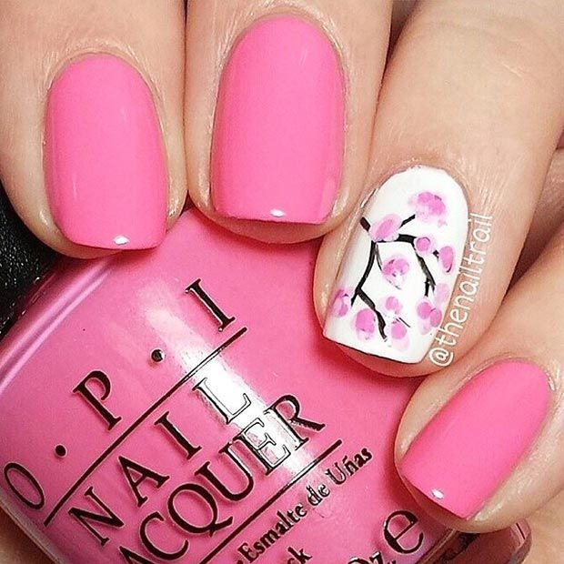 80 Nail Designs for Short Nails - Best 25+ Cherry Blossom Nails Ideas On Pinterest Spring Nail Art
