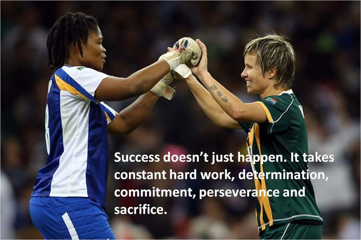 Hard work, Determination and passion for the game is key. Janine van Wyk, Banyana Banyana