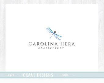 Dragonfly Logo, Photography Logo, Decor Logo, Watercolor Logo, Artisan Logo, Beauty Logo, Dragonfly Design