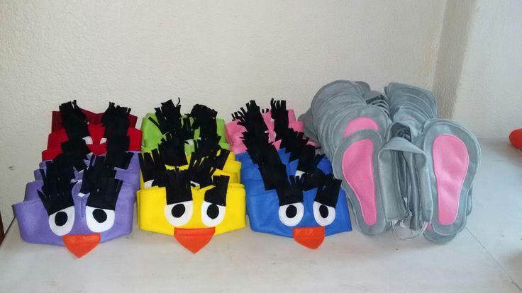 Bird and elephant head dresses