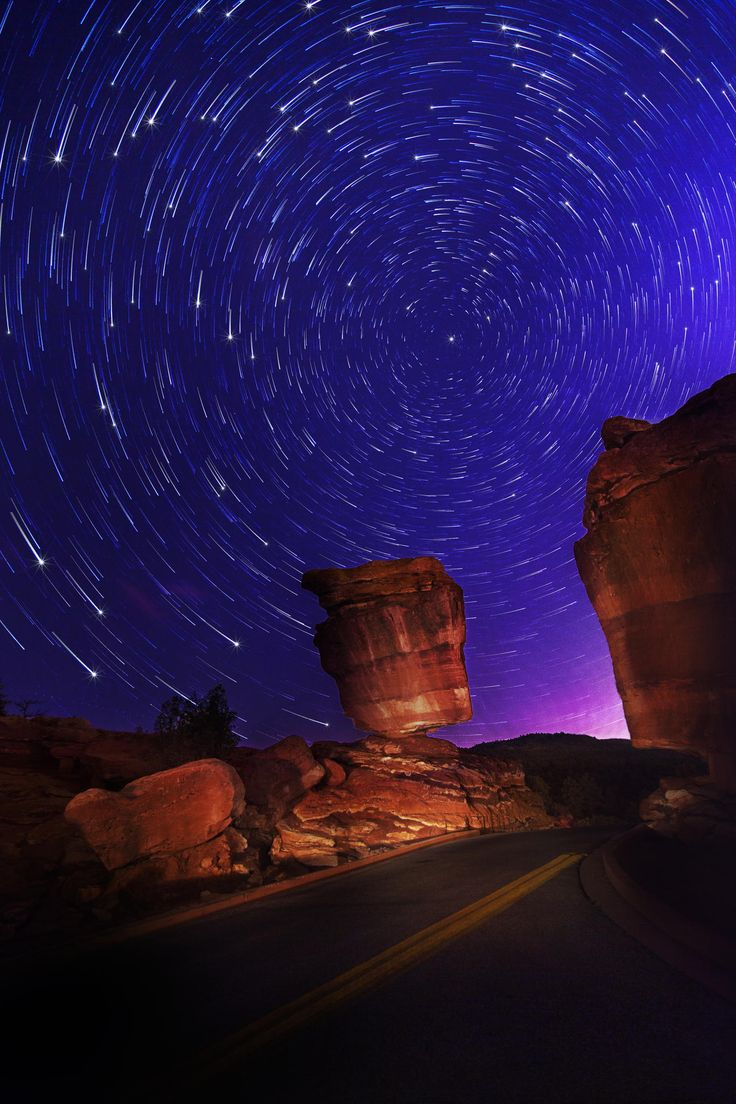 Star Trails At Garden Of The Gods | Colorado Springs | Colorado | Photo By Neil Podoll