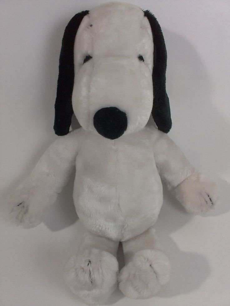 "Vintage 1972 SNOOPY Plush KOREA Peanuts Gang United Feature Syndicate LARGE 18""  #UnitedFeaturesSyndicate"