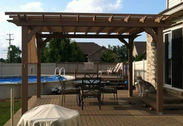 12x14 Wood Pergola Kit, DIY pergola kits at Alan's Factory Outlet $2361 w clear coat sealer and shipping! Cheapest ones I've found so far...