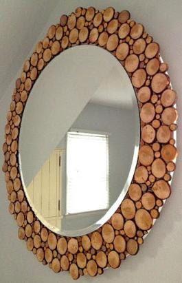 Wooden framed mirror. $350.00, via Etsy.