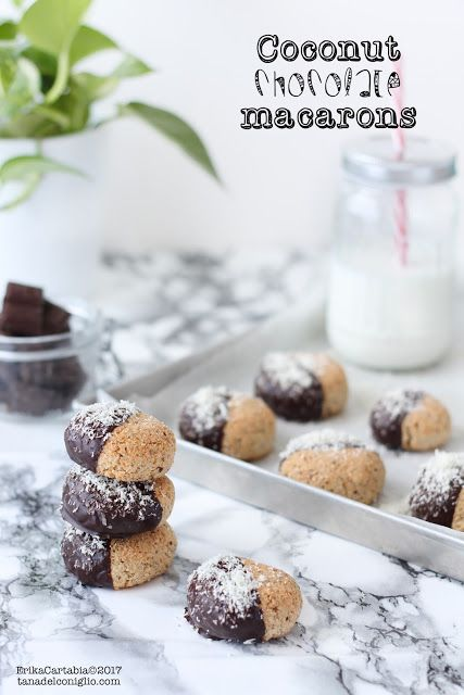 La tana del coniglio: Coconut chocolate macarons