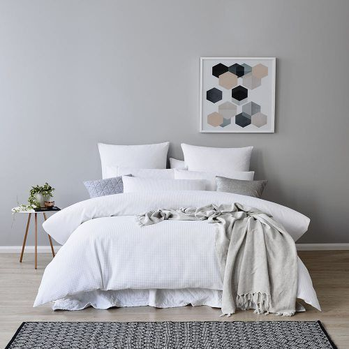 Tribeca Waffle Quilt Cover Set White