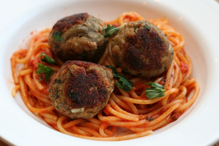 Vegetarian eggplant meatballs