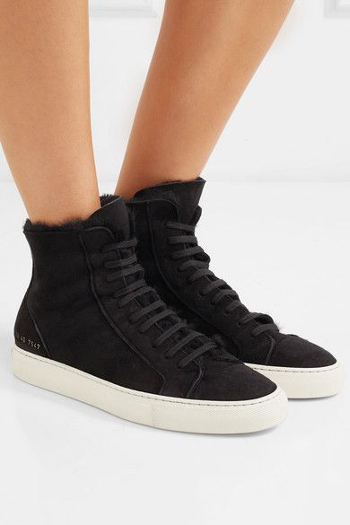0d5d991be1df Common Projects   Tournament shearling-lined suede high-top sneakers    NET-A-PORTER.COM