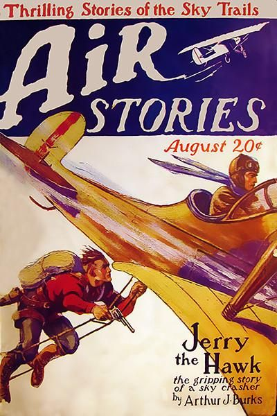 Air Stories August 1927 Magazine Cover Poster In 2018 Pulp Sci