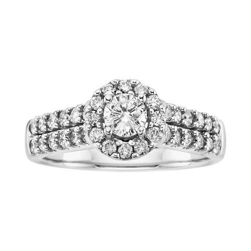 Unique Sitara Diamond Engagement Ring in K White Gold Fred MeyerDiamond