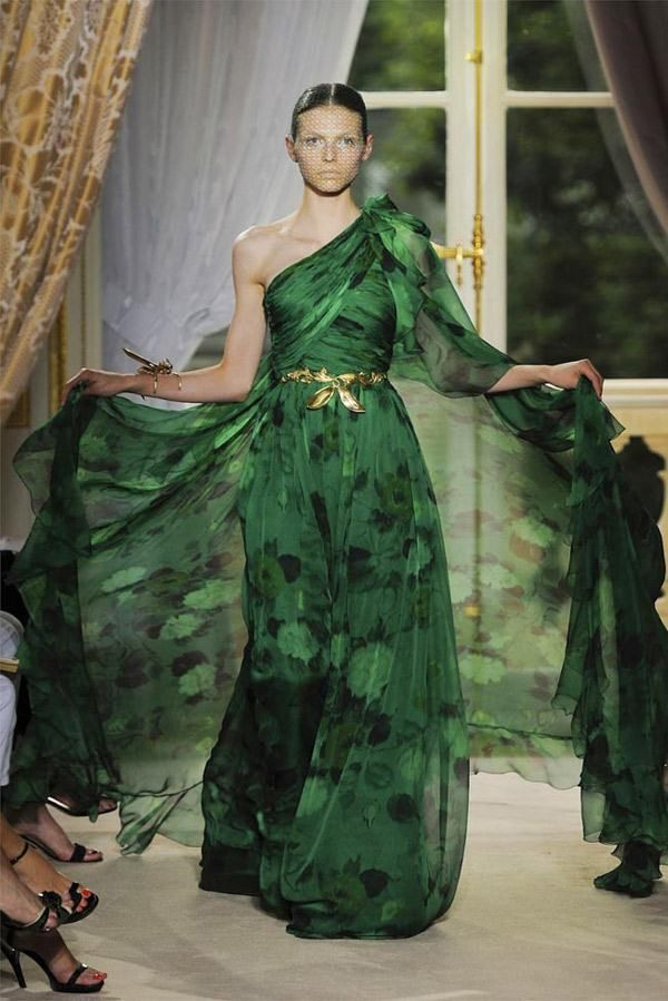 Giambattista Valli Couture Haute Green Prom Dress Collection Are Dresses Pinterest Fashion And