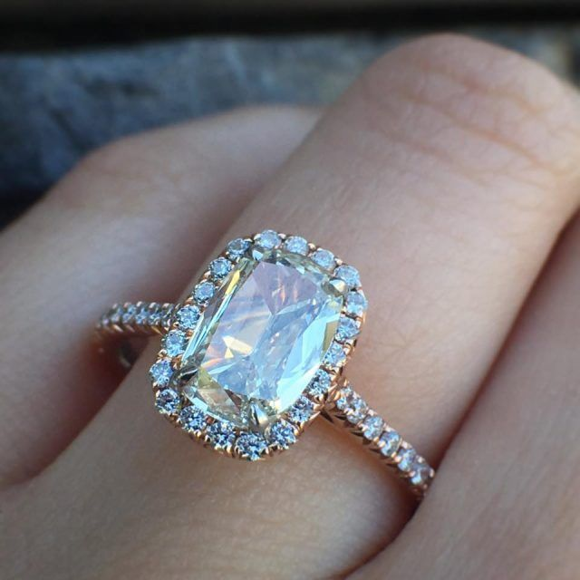 46 best cushion cut engagement rings images on pinterest wedding henri daussi engagement rings that will blow your mind junglespirit Choice Image