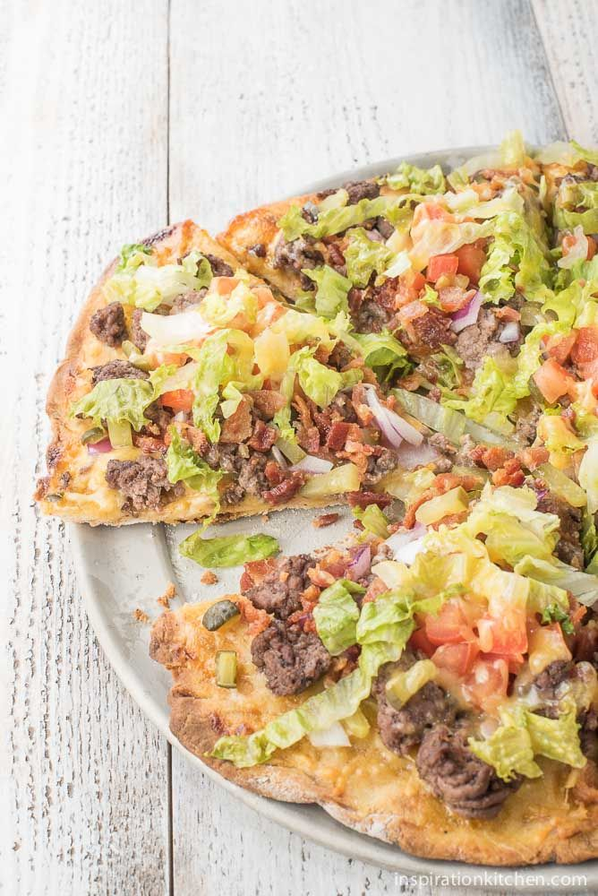 Bacon Cheeseburger Pizza | Inspiration Kitchen