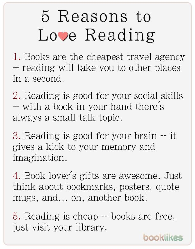 """booklikes: """" 5 Reasons to Love Reading Books """""""