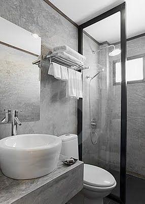 Baño cemento pulido decoración baños,