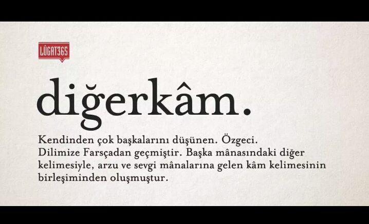Bazı kelimeler çok güzeldir…