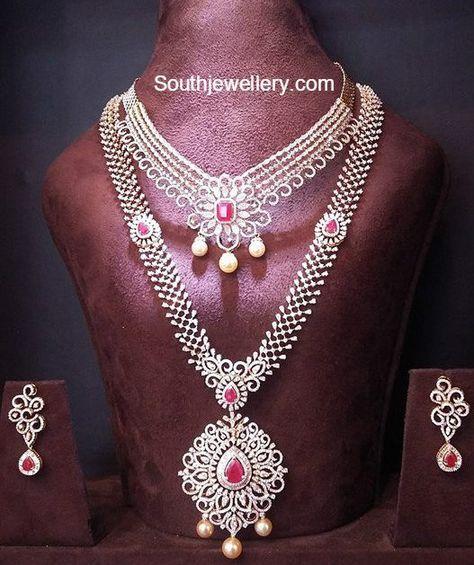 Diamond Necklace and Haram Set photo