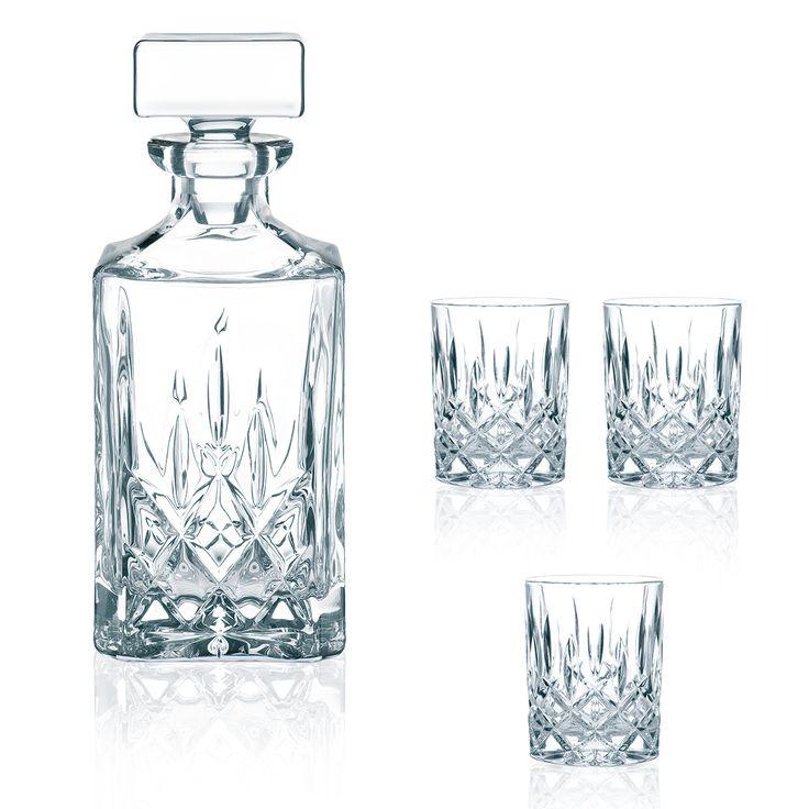 Articolo: NACHTMANN91899Bere whisky e' piu' gradevole con la bottiglia e i 3 bicchieri Whisky Noblesse! Offrire un whisky e berne a propria volta e' un momento importante che va premiato con le giuste attenzioni. La bottiglia e i 3 bicchieri da Whisky Noblesse sanno dare il giusto risalto alla situazione. Servire un whisky ai propri amici con la bottiglia e i 3 bicchieri Whisky Noblesse della linea Nachtmann significa avere a cuore l'amicizia e lo stile. La caraffa, cristallina, lascia…