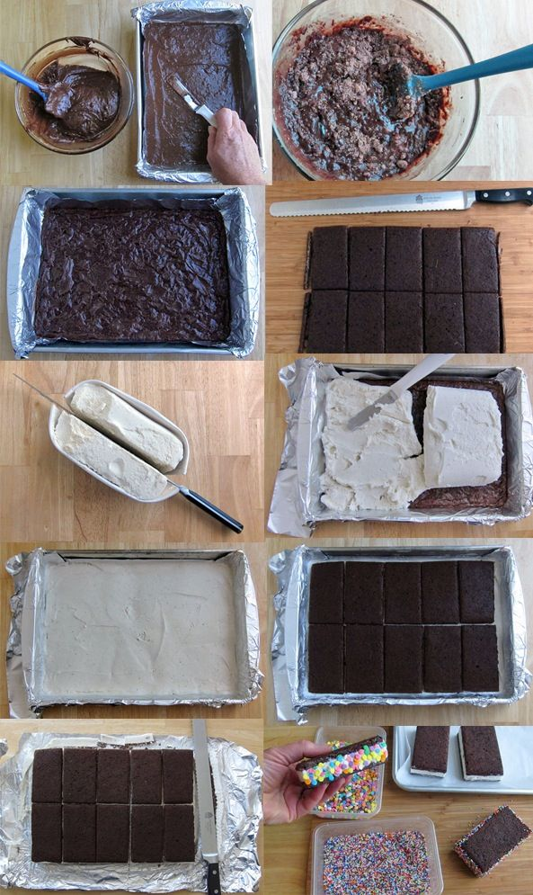 Homemade Ice Cream Sandwiches - Food Recipes