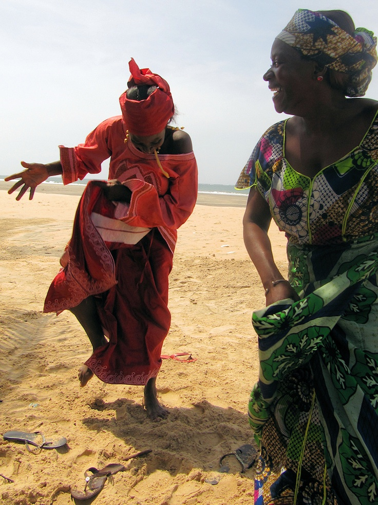 Dancing on the beach. The Gambia (@David Nilsson Nilsson Nilsson Copeland Dreams)