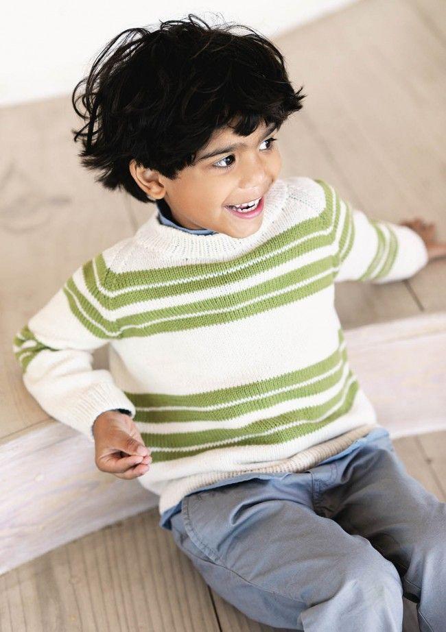 gratis strikkeopskrift drenge sweater