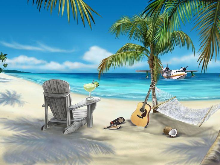 10 Best Animated Beach Desktop Wallpapers For Summer Beach Scene Wallpaper Beach Scenes Beach Wall Murals